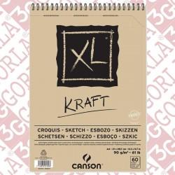 XL KRAFT 21X29 A4 90GR 60...