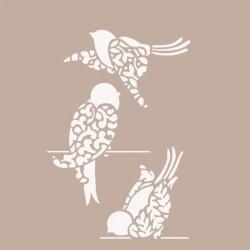 STENCIL FLEUR 21X29CM-BIRDS