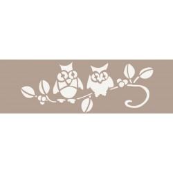 STENCIL FLEUR 15X40CM-OWLS